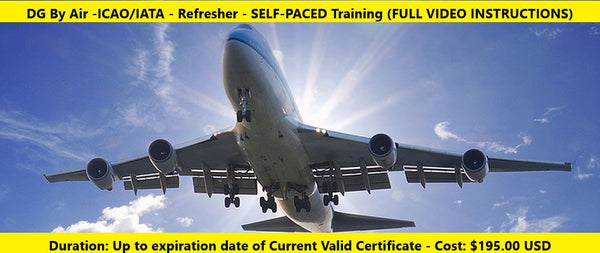 ICAO/IATA Dangerous Goods by Air Training (REFRESHER)