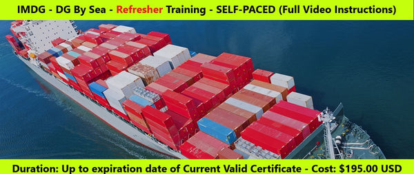 IMDG Dangerous Goods by Sea - REFRESHER