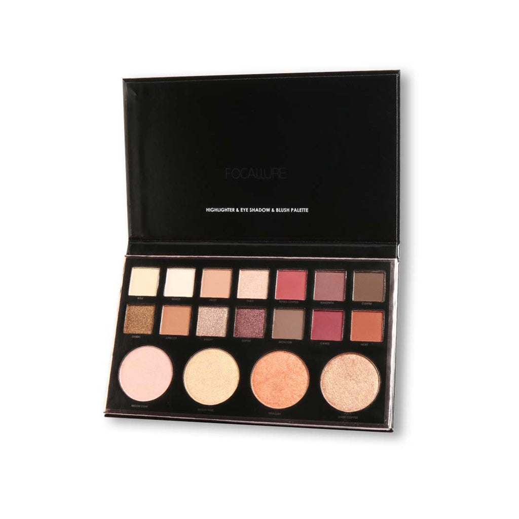 FOCALLURE - Focal - Eyeshadow & Highlighter & Blush All In One Palette
