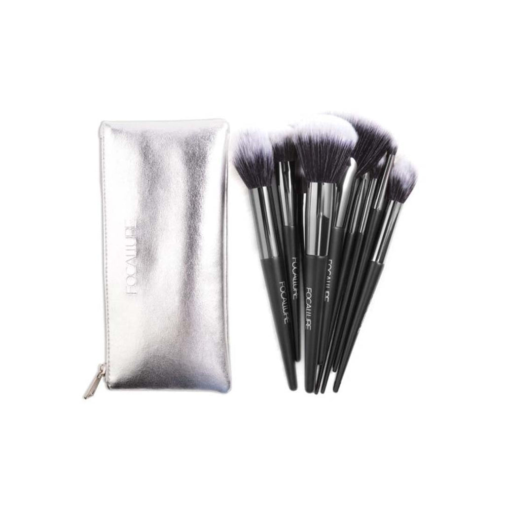 FOCALLURE - Focallure 10 Pcs Brushes Set With Pouch