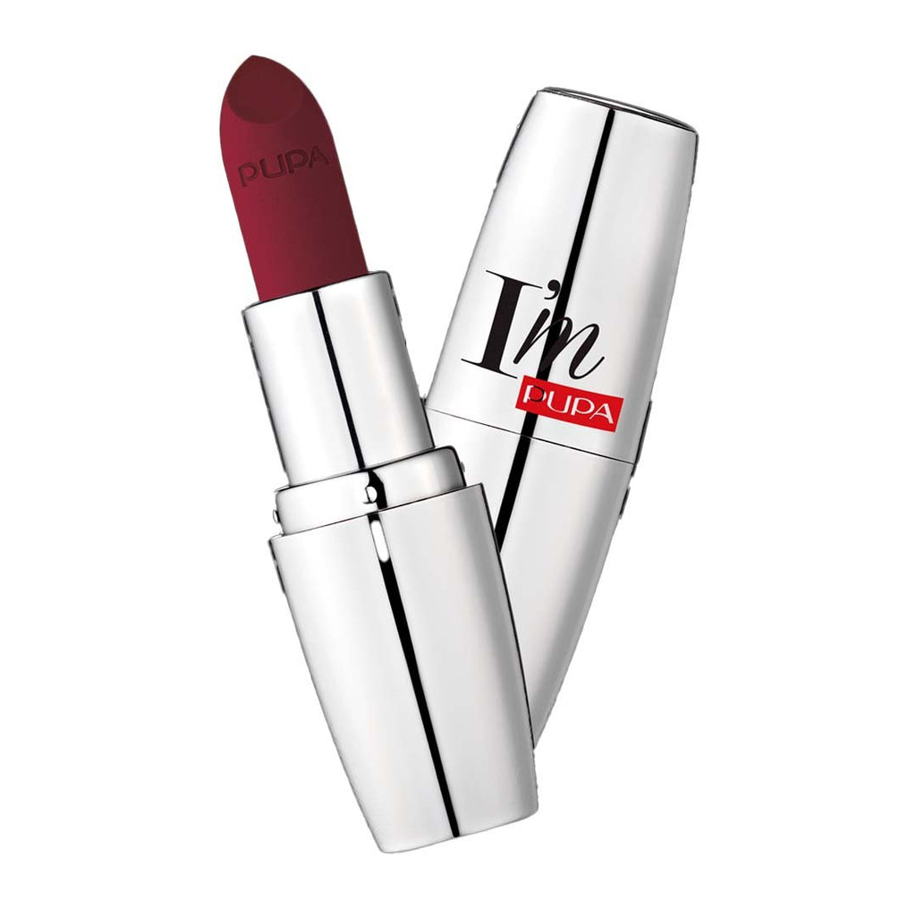 PUPA MILANO - I'M Matt Pure Color Lipstick Ultimate Matte - Irresistible Burgundy