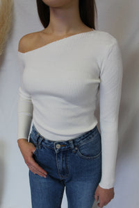 Asymmetrical Rib Knit