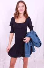 Load image into Gallery viewer, Ruched Dress Navy