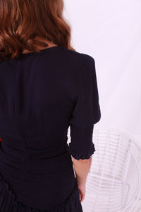 Ruched Dress Navy