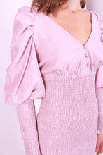 Load image into Gallery viewer, Bubble Sleeve Dress Pink