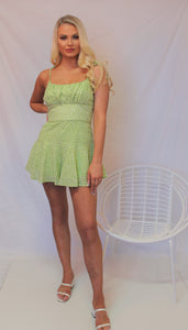 Jess Playsuit Apple Green