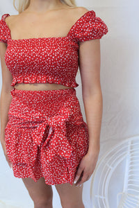 Sale Top Red