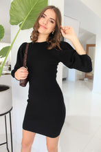 Load image into Gallery viewer, Holly Knit Dress Black