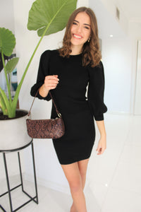 Holly Knit Dress Black