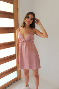 Luxe Satin Dress Pink