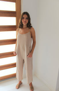 Sure Thing Jumpsuit Nude