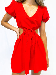 Red Robin Cut Out Dress