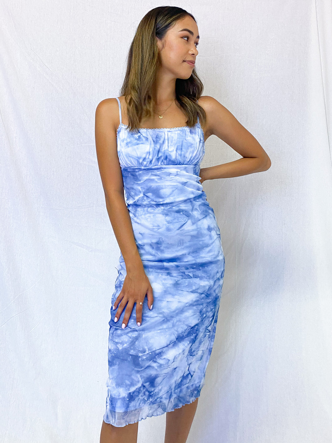 In the Clouds Midi Dress