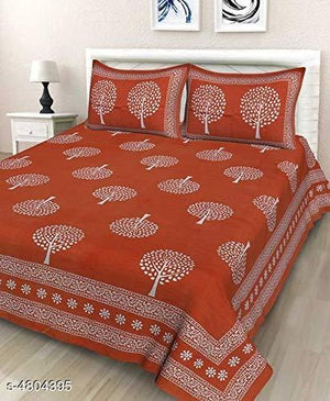 Jaipuri Cotton  Double Bedsheet with Pillow Cover