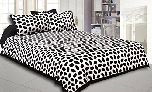 Jaipuri Traditional King Cotton Double bedsheet with 2 Pillow Cover