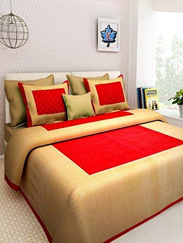 Cotton Jaipuri Print Bedsheet with 2 Pillow Cover - Multi