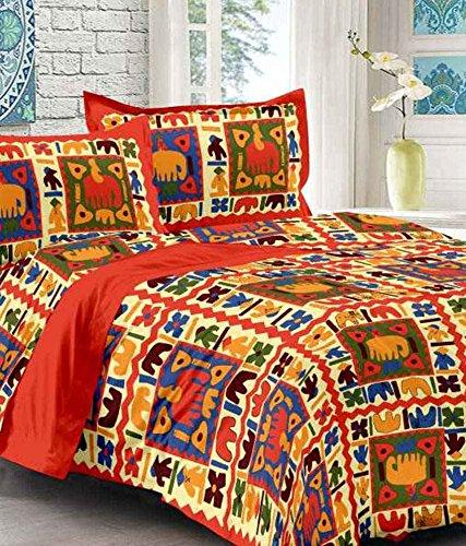 Jaipuri / Rajasthani Traditional Bed Sheet With 2 Pillow Cover