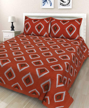 Jaipuri Cotto Traditional Double Bed Bedsheet with 2 Pillow Covers