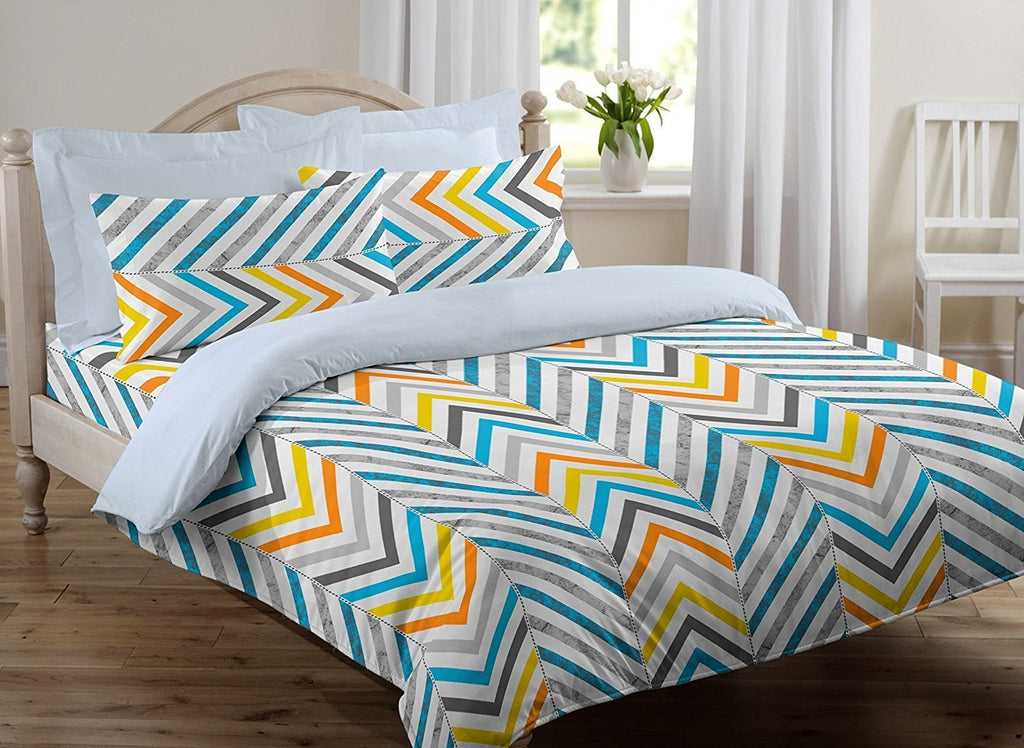 Cotton 144 TC Cotton Double Bedsheet with 2 Pillow Covers