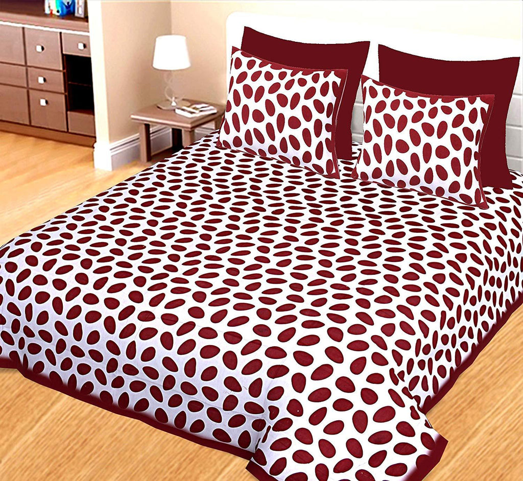 Jaipuri Cotton Double Bed Bedsheet with 2 Pillow Covers