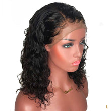 Load image into Gallery viewer, 13*4 Brazilian Lace Front Human Hair Wigs For Black Women Remy Natural Wave Short Bob Wigs With Baby Hair Pre Plucked - jkhairshop