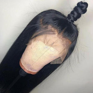 360 Lace Front Wigs Straight Brazilian Remy Hair - jkhairshop