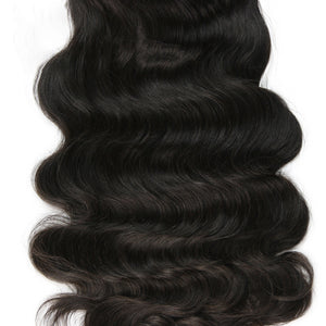 Body Wave Full Lace Human Hair Wigs For Women Natural Black Pre Plucked - jkhairshop