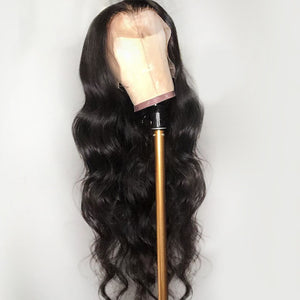 Body Wave Wig Remy Brazilian Lace Front Human Hair Wigs For Women Natural Black Color Bleached With Baby Hair JK 13*4 Deep Part - jkhairshop