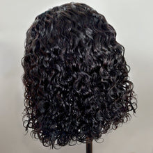 Load image into Gallery viewer, Curly Bob Lace Front Human Hair Wigs For Women Natural Color Remy Brazilian 13x4 Black Lace Wig Middle Part - jkhairshop