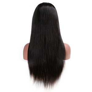 Glueless Full Lace Human Hair Wigs Brazilian Remy Lace Straight Human Wigs - jkhairshop