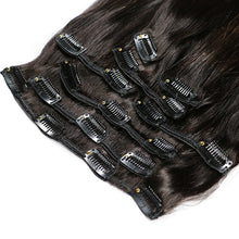 Load image into Gallery viewer, Brazilian Remy Straight Hair Clip In Human Hair Extensions Natural Color - jkhairshop