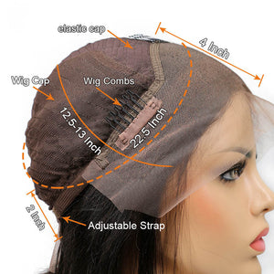 13×4 Straight Lace Front Human Hair Wigs 130% 150% 180% Density With Baby Hair Brazilian Remy Hair - jkhairshop