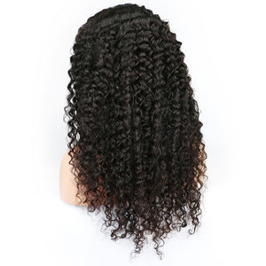 13*4 Kinky Curly Lace Front Human Hair Wigs For Women Black Color Pre blucked Remy Brazilian Lace Human Wigs With Baby Hair JK - jkhairshop