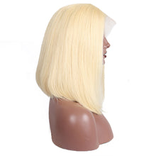 Load image into Gallery viewer, Remy Brazilian Short Bob Wigs For Women Ombre Black Root 1b/ 613 Blonde Lace Front Human Hair Wig Natural Color - jkhairshop