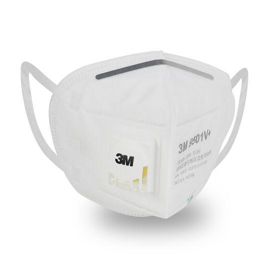 3M Branded Face Mask 9501V+ -Valved Cool Flow Foldable Respirator
