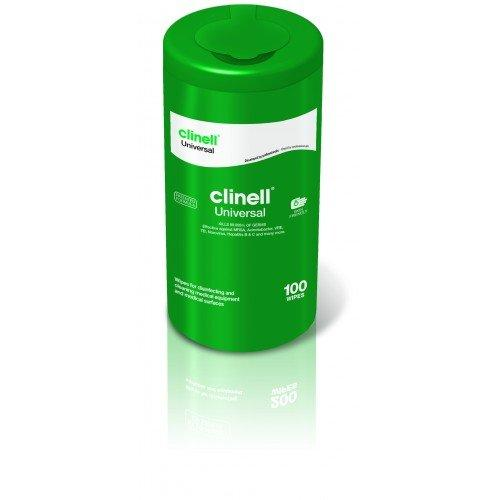 Clinell Clinell Universal Sanitising Wipes - 100 Wipe Tub