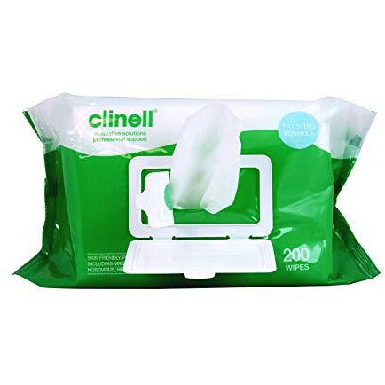 Clinell Universal Wipes 200 Pack (CW200) Kills 99.99% of Germs