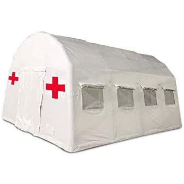 DZWJ White Medical Emergency Rescue Tent, Medical Rescue Material Storage Tent, Mobile Inflatable Hospital