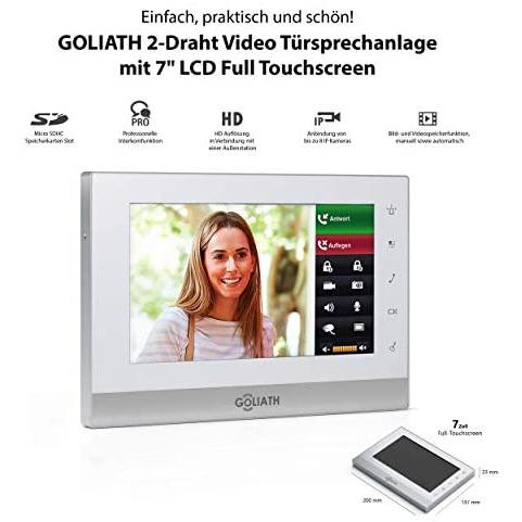 GOLIATH IP 2 Wire Video Door Intercom with 1.3 Megapixel Camera