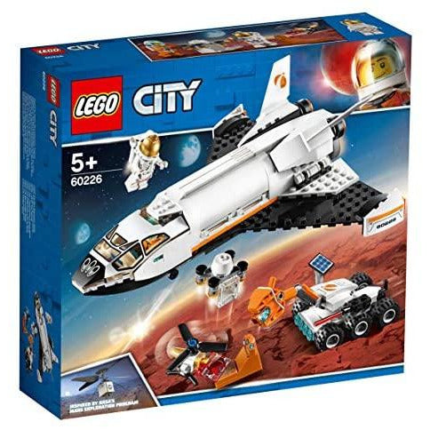 LEGO 60226 City Mars Research Shuttle Spaceship Educational Toys for Kids Inspired by NASA