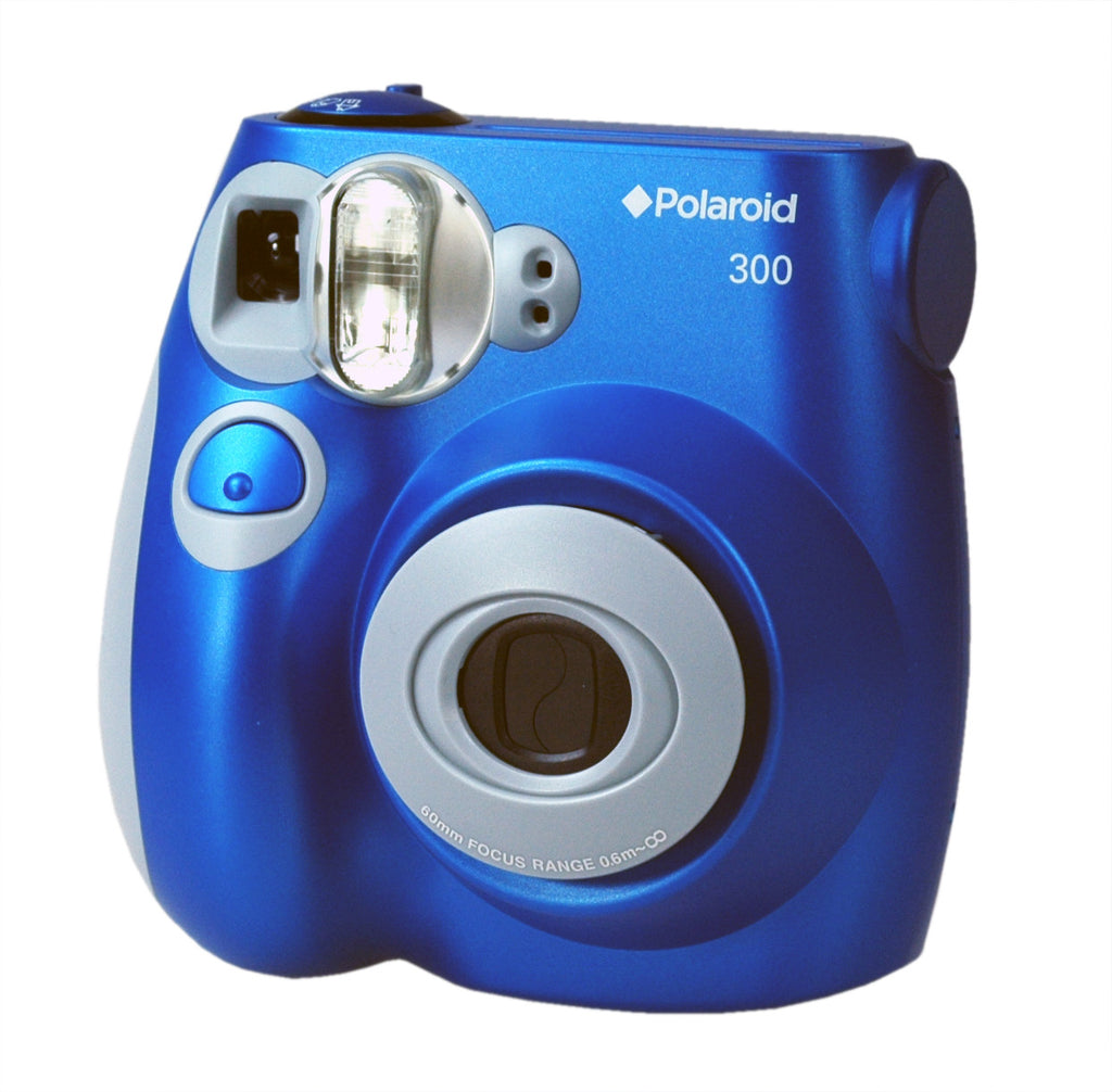 BLUE Polaroid 300 Camera