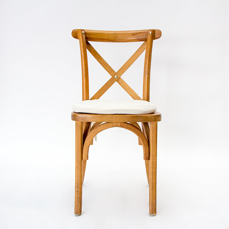 SILLA CROSS MAPLE COJÍN HUESO