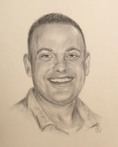 Chad, Charcoal & Pencil on Paper - 10 x 8
