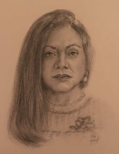 Claudia, Charcoal & Pencil on Paper - 10 x 8