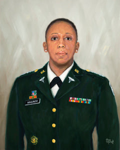 LTC Karen Wagner - Oil on Canvas - 20 x 16