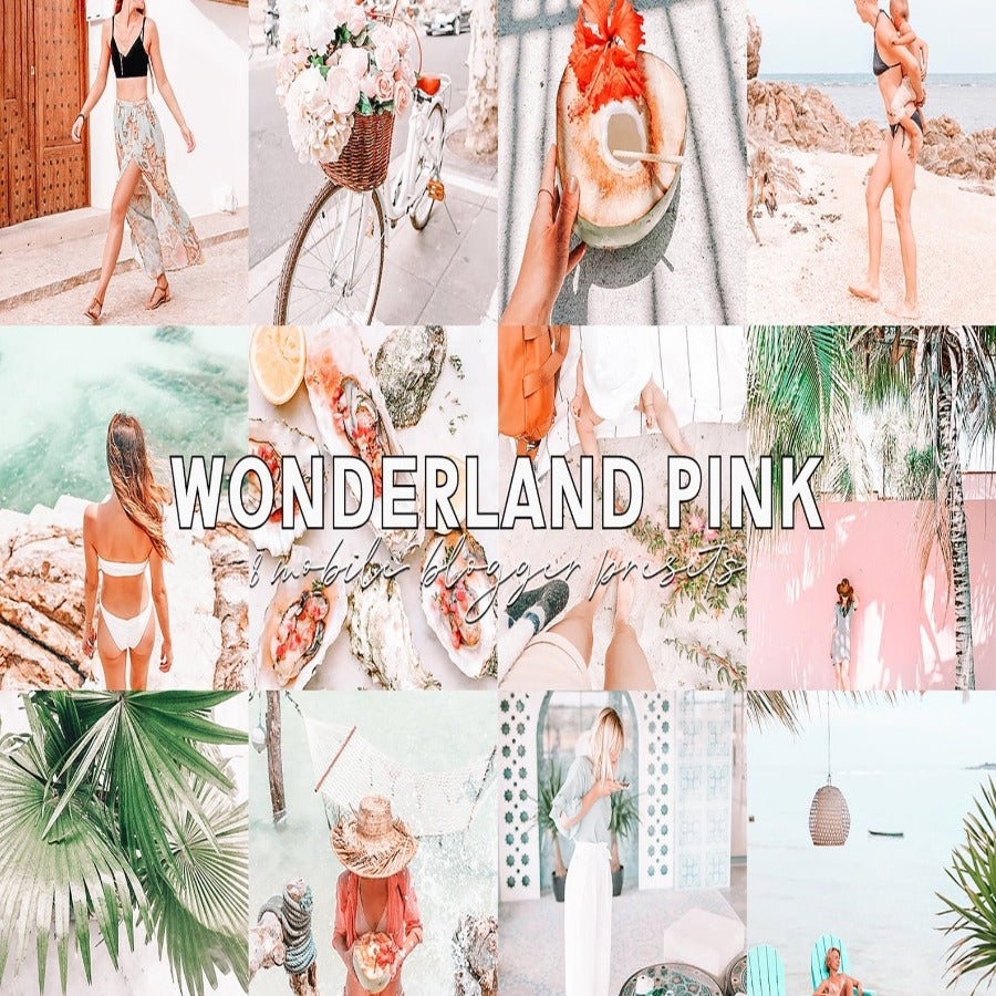 Wonderland Pink Mobile Lightroom Presets
