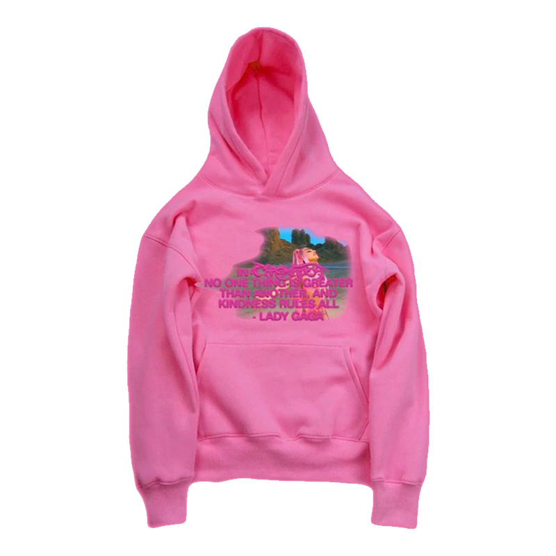 Hoodie | Hoodie rose Kindness Rules Lady Gaga
