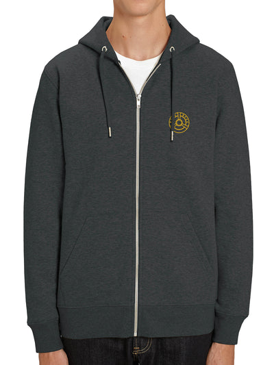 Hooded Jacket Zip Wheel