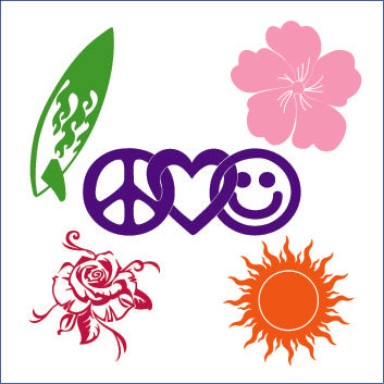 Beach Peace & Nature Decals