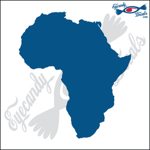 "AFRICA SILHOUETTE 6"" DECAL"